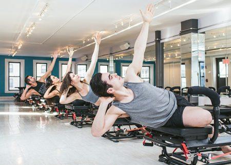 Class doing megaformer workout